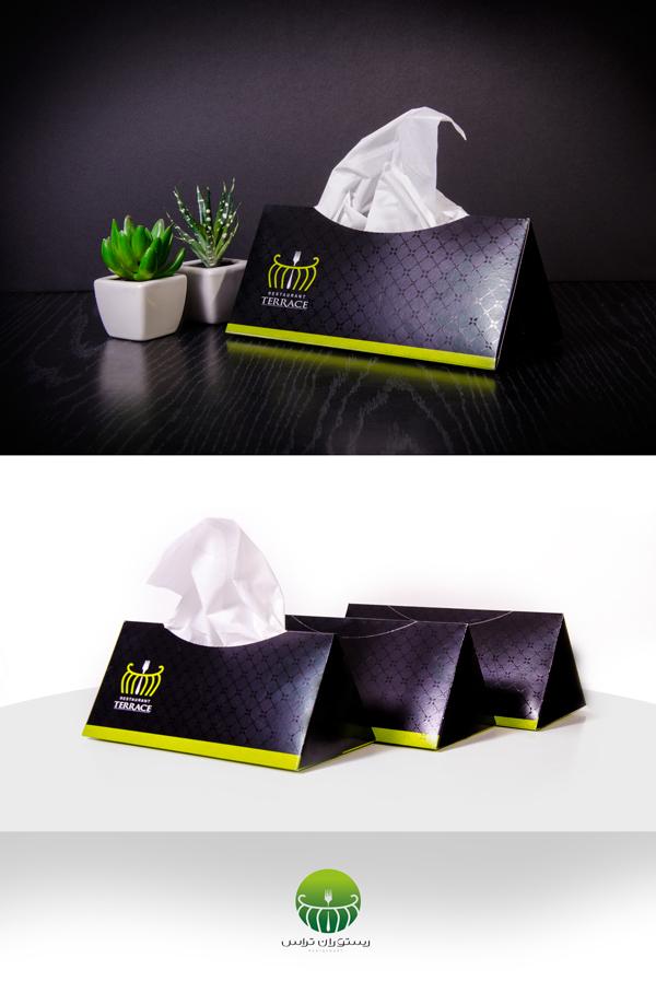 طراحی دستمال کاغذی رستوران تراس